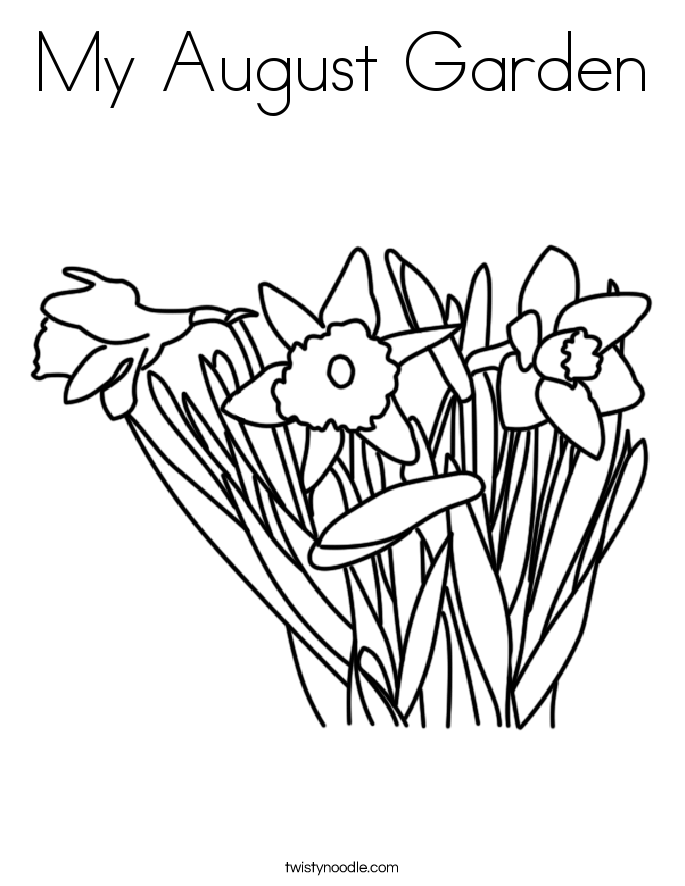 685x886 My August Garden Coloring Page