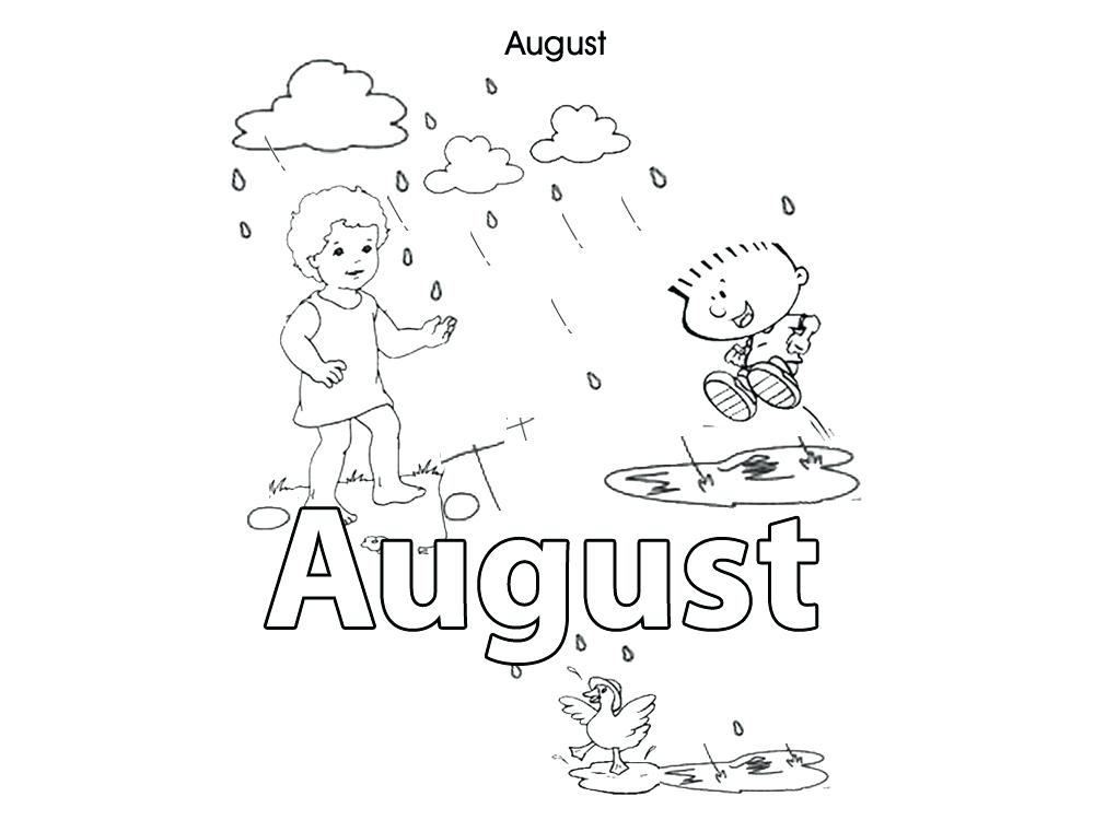1000x750 Spanish Months Coloring Pages Printable Coloring August Colouring