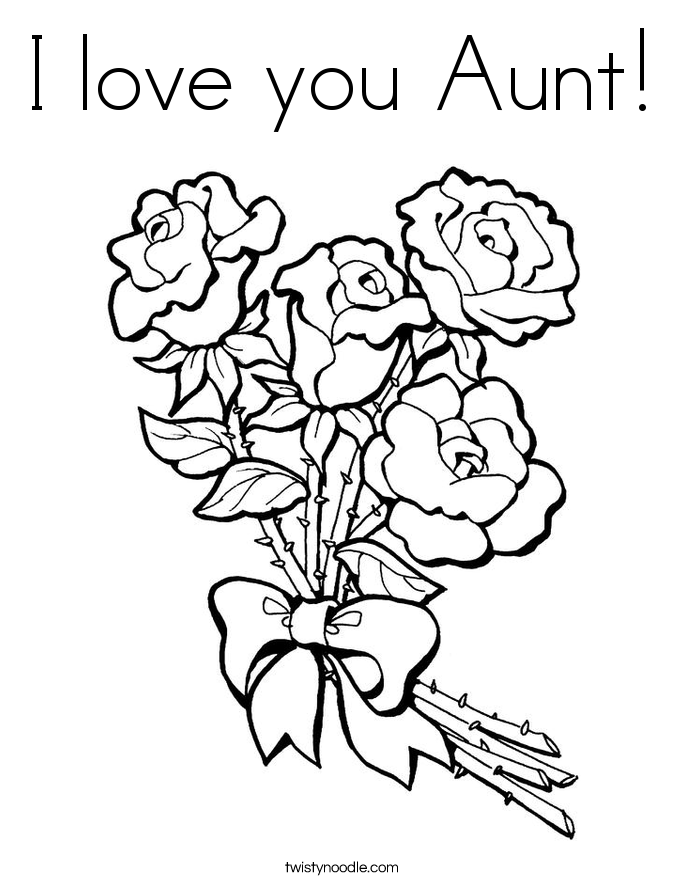 685x886 Happy Birthday Aunt Coloring Pages