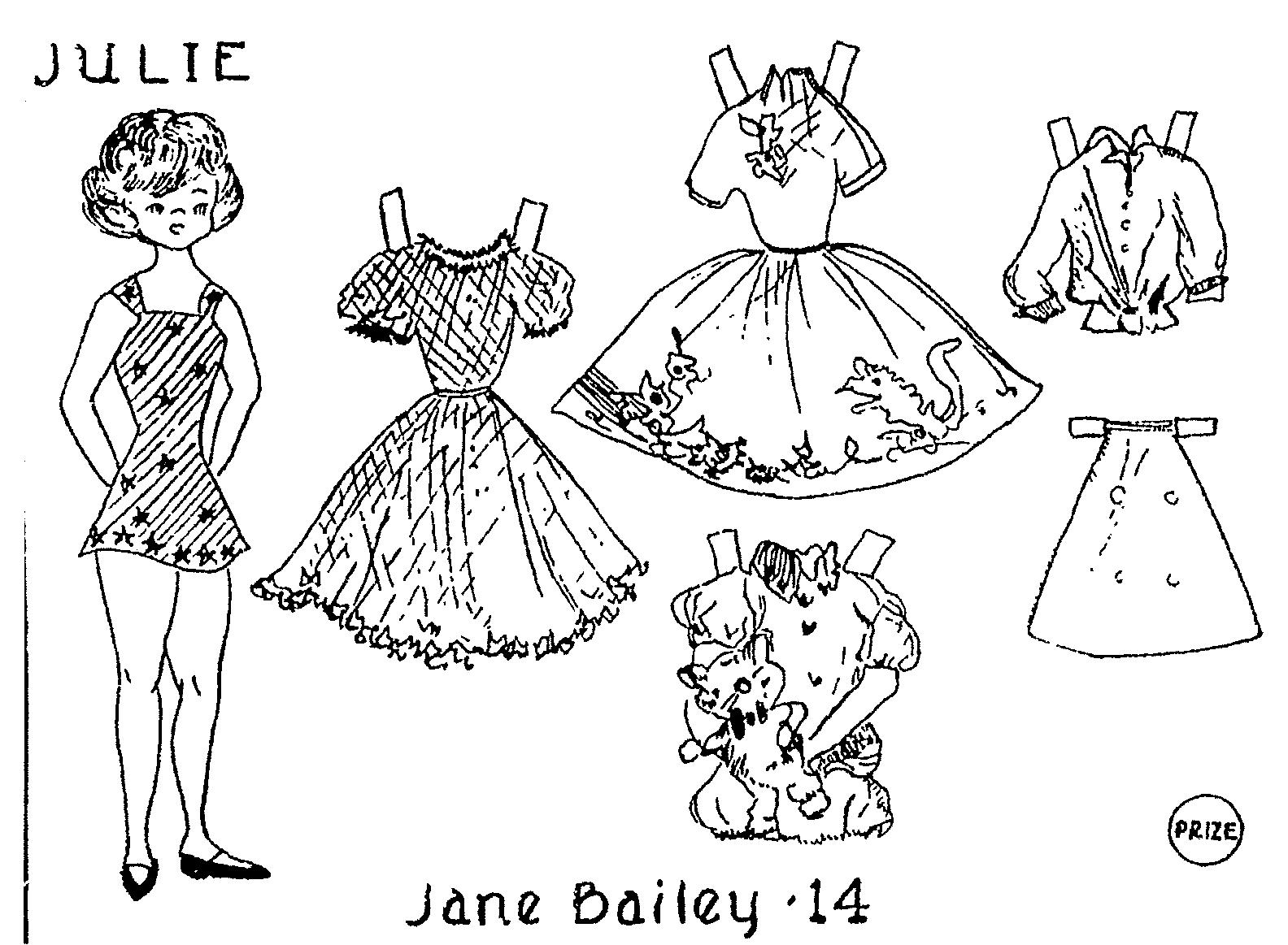 1584x1163 Mostly Paper Dolls Aunt Elsie Paper Doll Coloring Contest