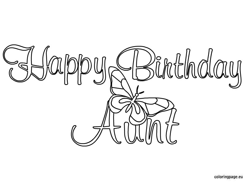 804x595 Happy Birthday Aunt Coloring Pages
