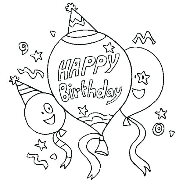 600x600 Birthday Coloring Pages For Aunts Birthday Color Page Happy