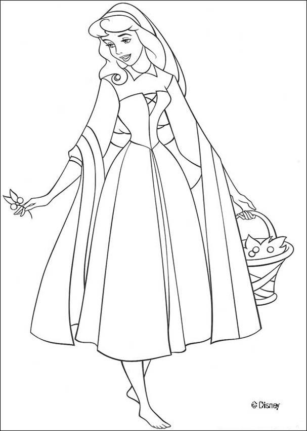 607x850 Aurora Coloring Pages