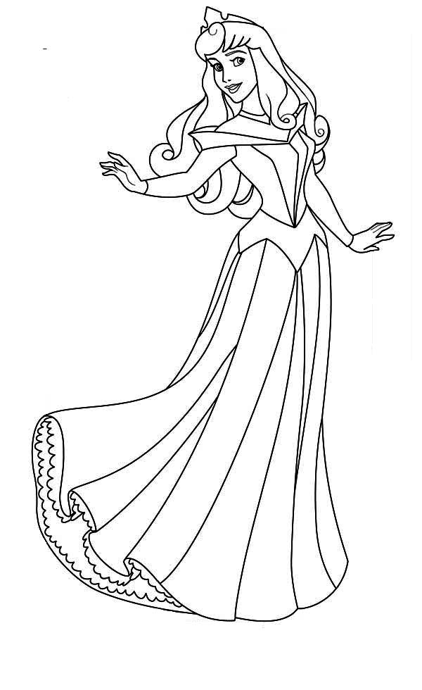 600x980 Lovely Princess Aurora Coloring Page