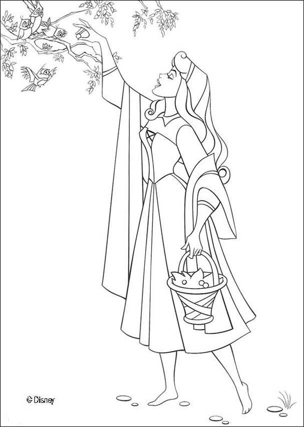 607x850 Princess Aurora Coloring Pages