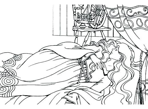 518x381 Sleeping Beauty Coloring Pages Disney Sleeping Beauty Colouring