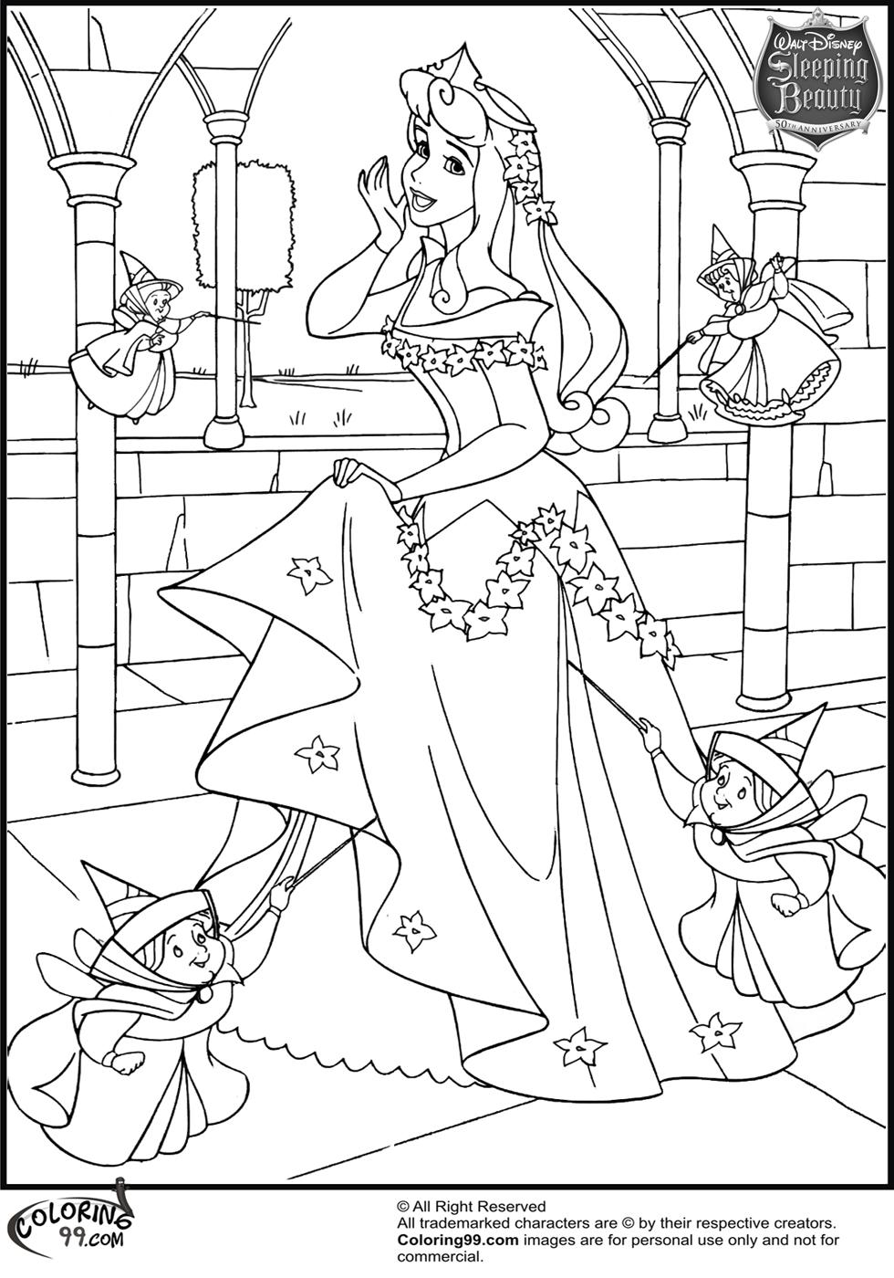 980x1400 Princess Aurora Coloring Page Vitlt Aurora Coloring Pages