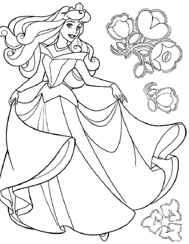 649x840 Aurora Coloring Pages Aurora Coloring Page Free Printable