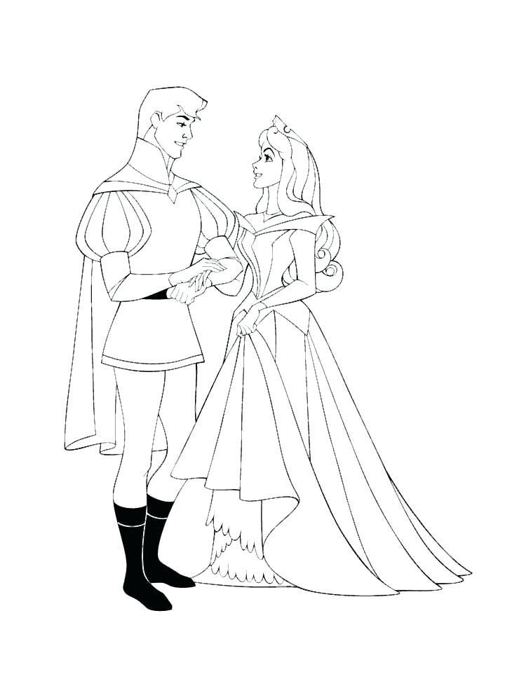 Aurora Sleeping Beauty Coloring Pages