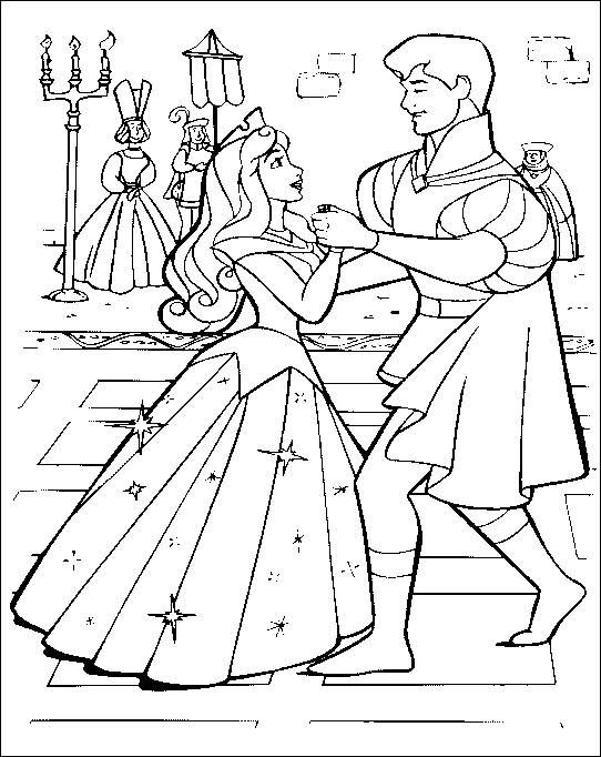 542x682 Disney Princess Sleeping Beauty Coloring Pages For Kids
