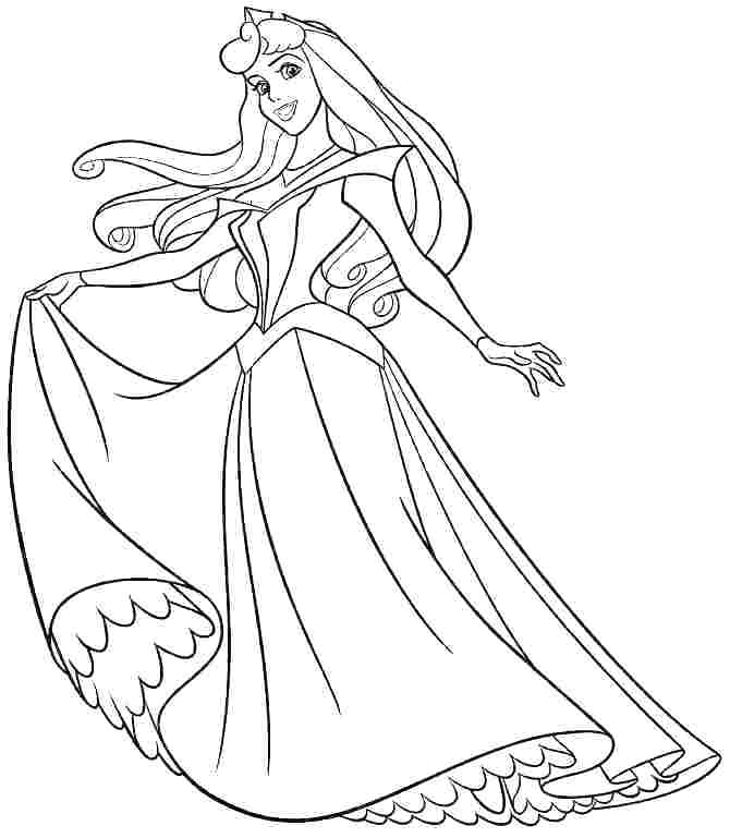 670x769 Sleeping Beauty Color Pages Aurora Coloring Pages Pics Sleeping
