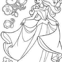 220x220 Sleeping Beauty Coloring Pages
