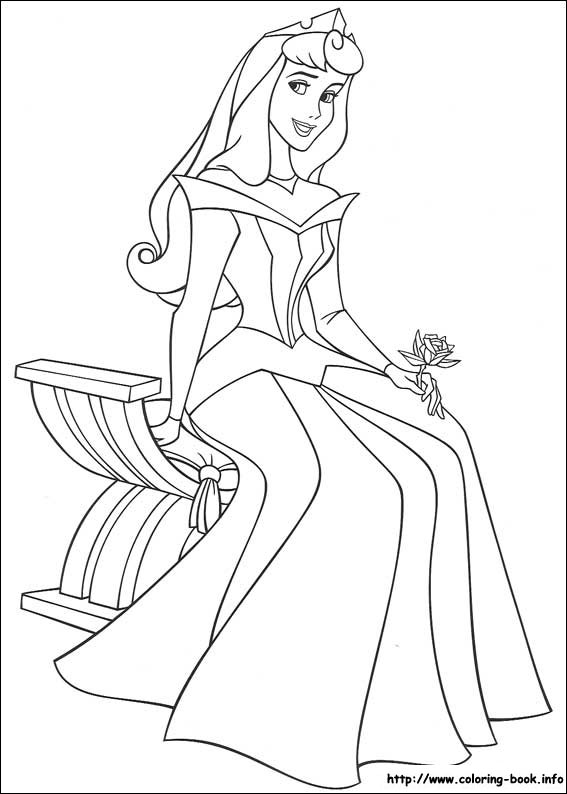 567x794 Sleeping Beauty Coloring Pages On Coloring