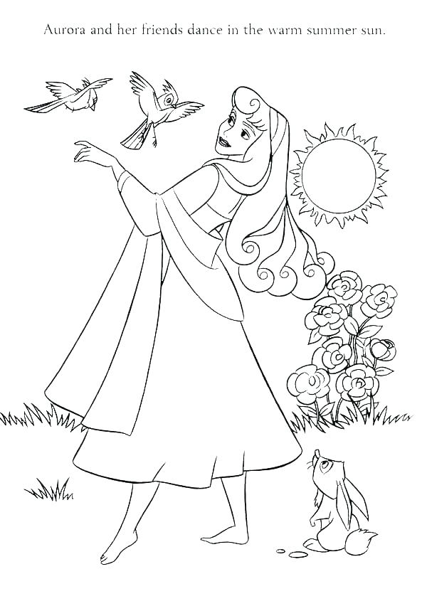 600x852 Sleeping Beauty Coloring Pages Icontent