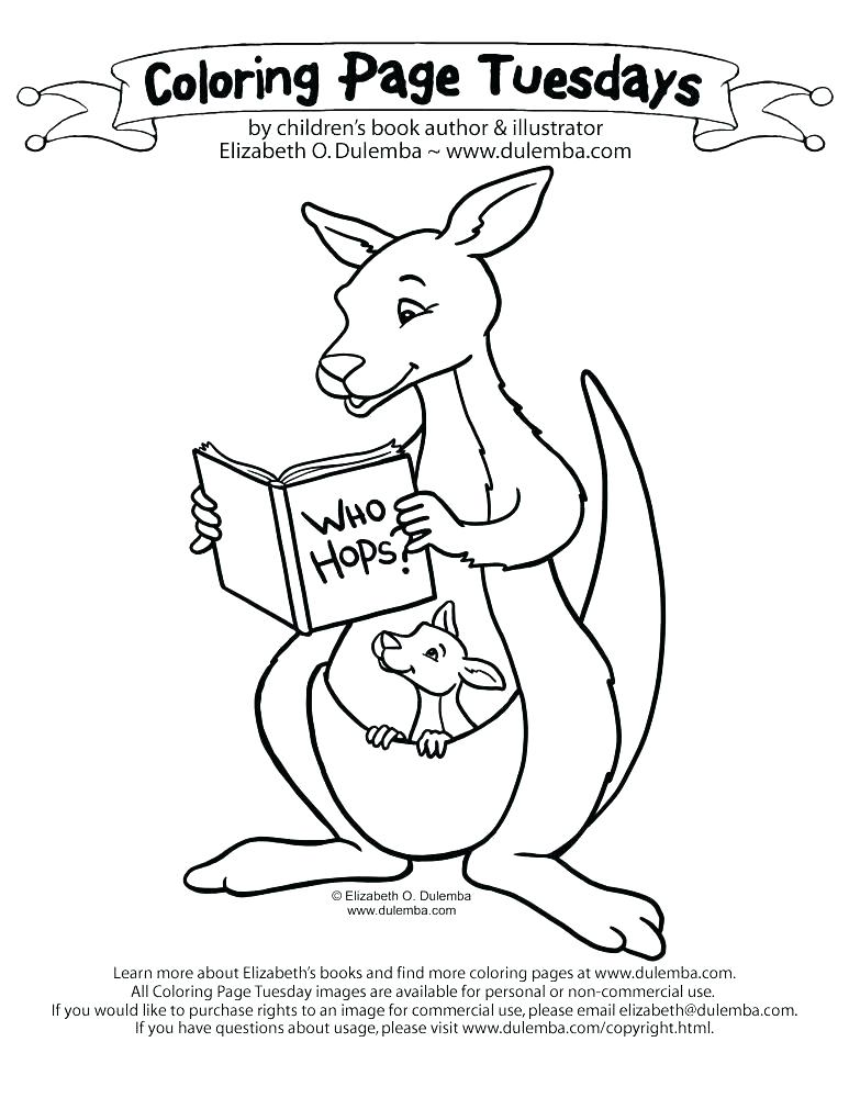 773x1000 Australia Coloring Pages Kangaroo Free Coloring Page Free