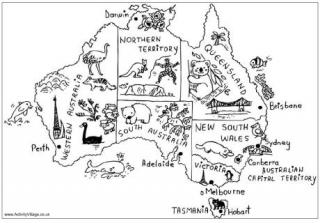 320x223 Australia Colouring Pages