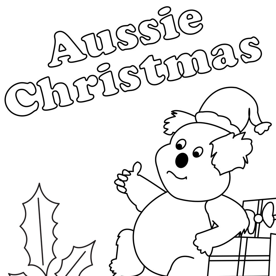 960x960 Aussie Christmas Colouring Sheet