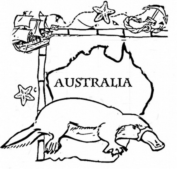 570x544 Free Australian Colouring Pages Australia Day Coloring Pages