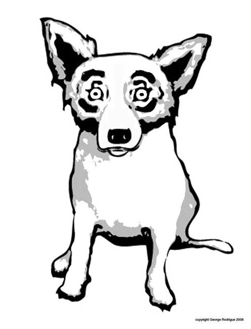 496x650 Blue Dog Coloring Page