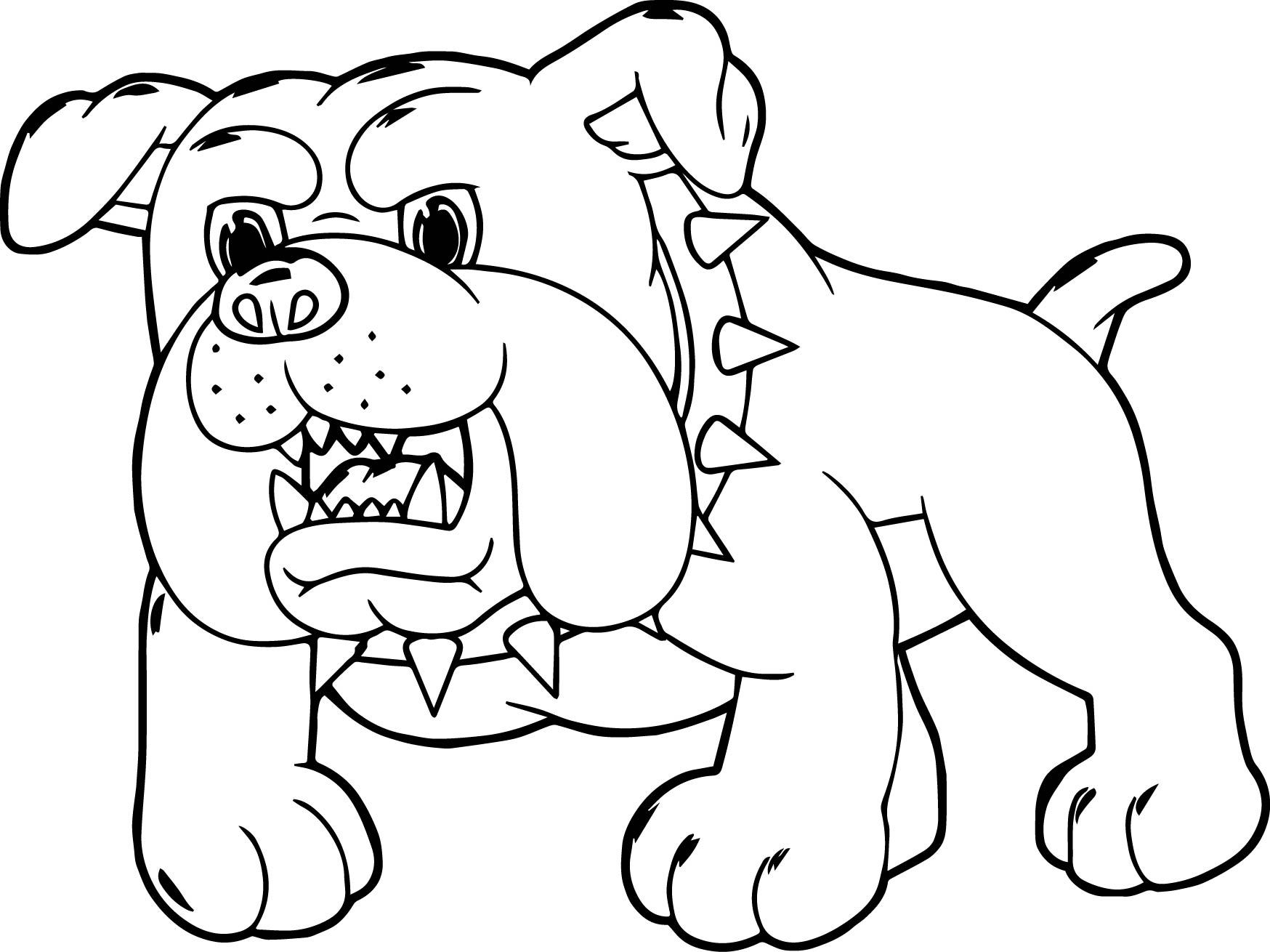 1748x1310 Amazing Angry Dog Cartoon Puppy Coloring Page Wecoloringpage