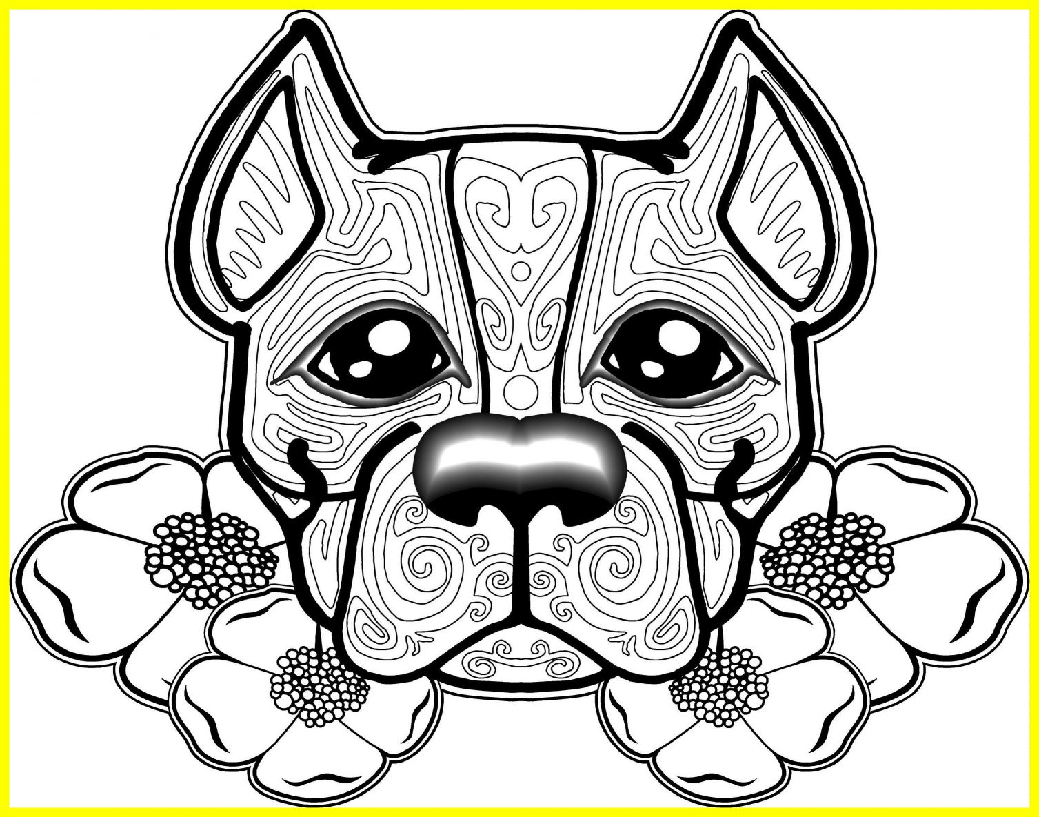 1507x1185 Shocking Australian Cattle Dog Coloring Page Printable For Puppy