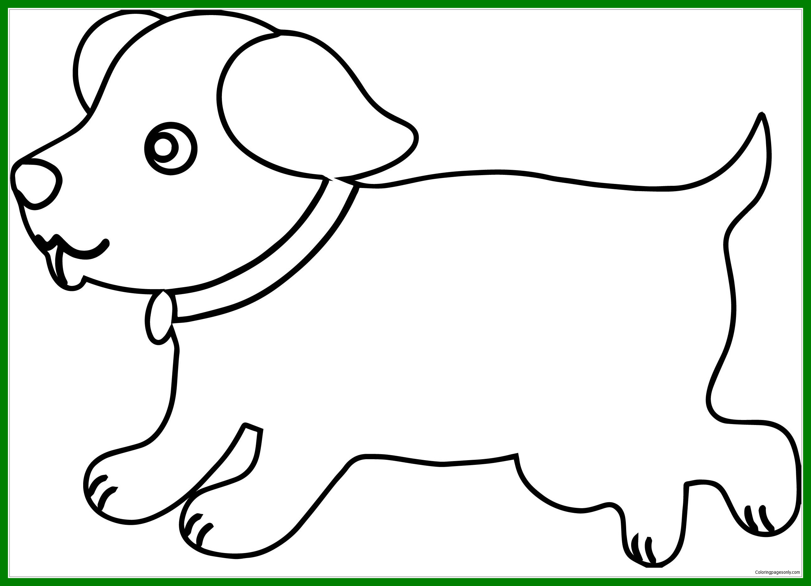 2584x1867 Astonishing Puppy Outline Dog Coloring Page Online Of Ideas