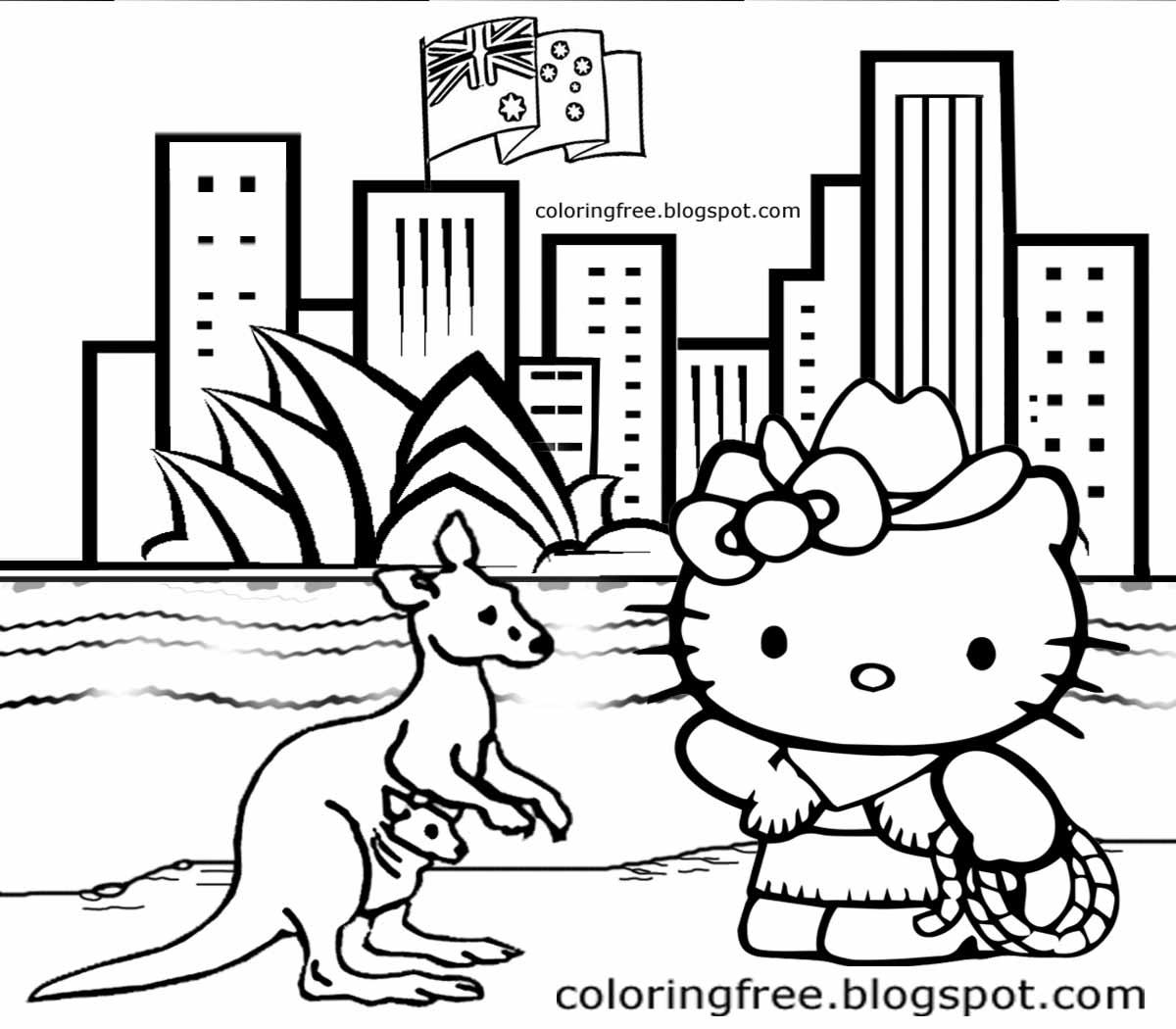 1200x1050 Australia Coloring Pages For Kids Coloring Pages