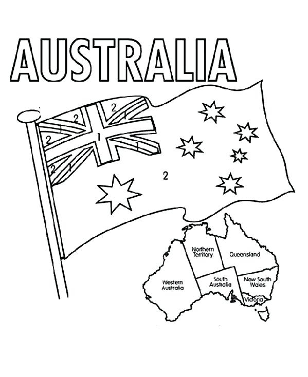 599x734 Australian Flag Coloring Page Flag Coloring Page Flag Coloring