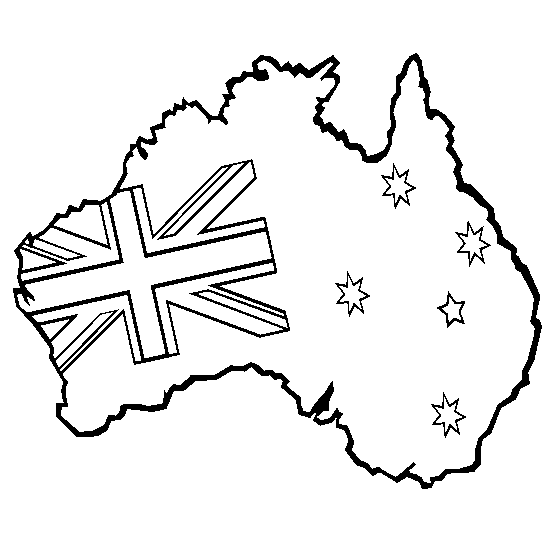 552x555 Print Coloring Page And Book, Australia Coloring Page For Kids