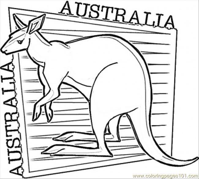 650x587 Australia Coloring Pages Kangaroo Coloring Page Free Australia