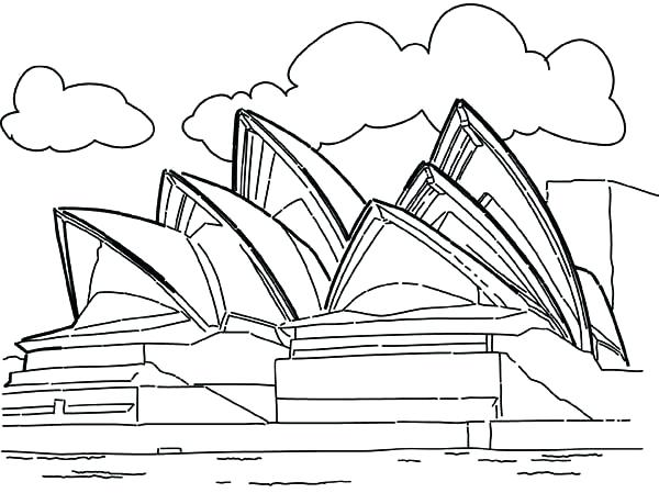 600x449 Australia Coloring Pages Collection Of Landmarks Around The World