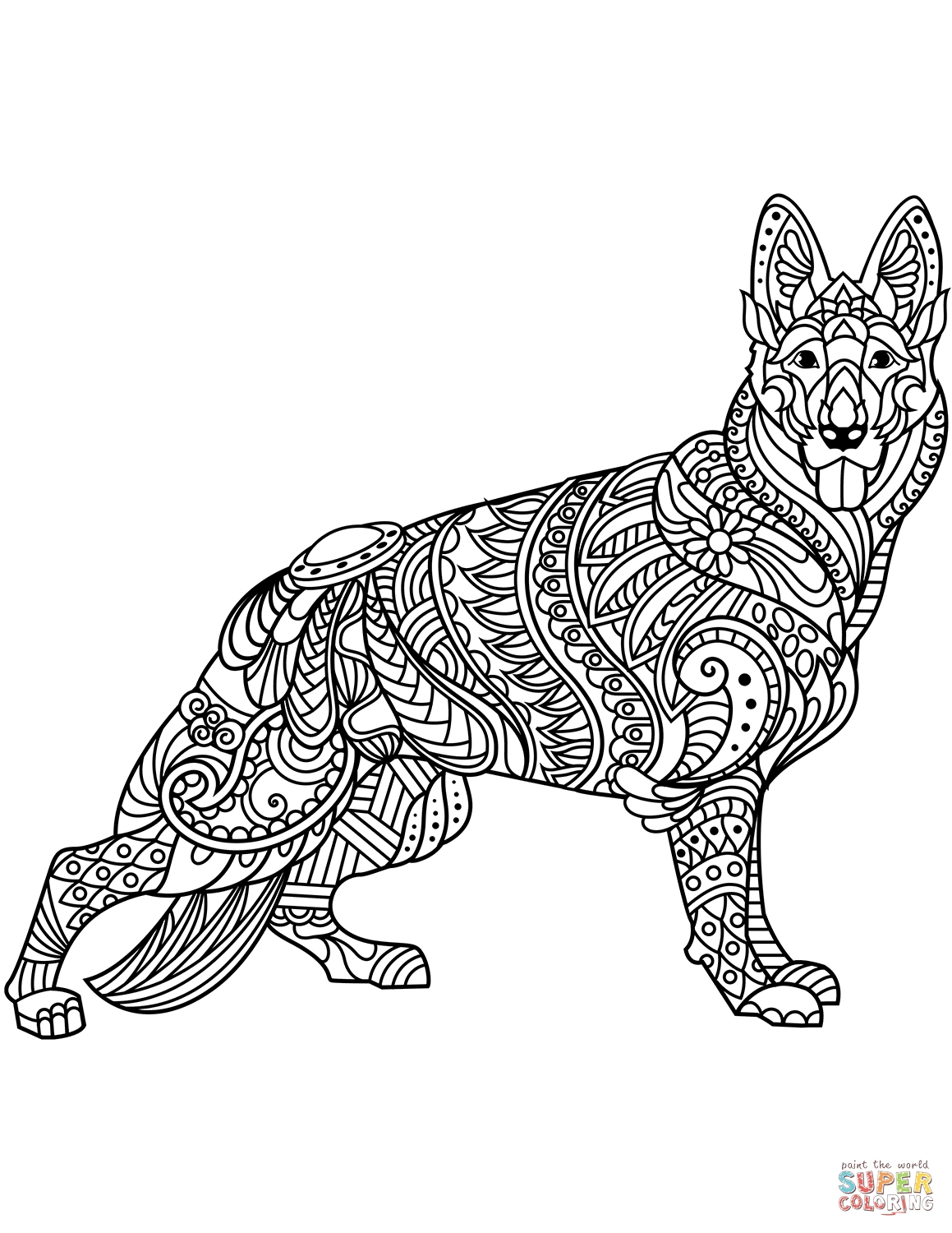 1159x1500 Printable Kids German Shepherd Coloring Pages Free Colouring Pages