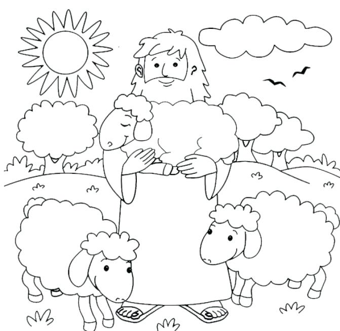 671x653 Shepherd Coloring Pages Coloring Page Sheep Lost Sheep Coloring