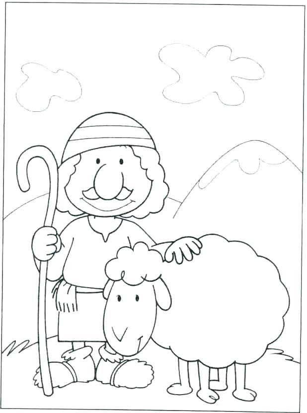 618x831 Shepherd Coloring Pages Sheep And Shepherd Coloring Page Marvelous