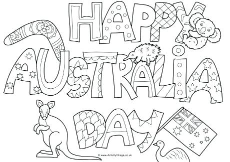 460x325 Australian Coloring Pages