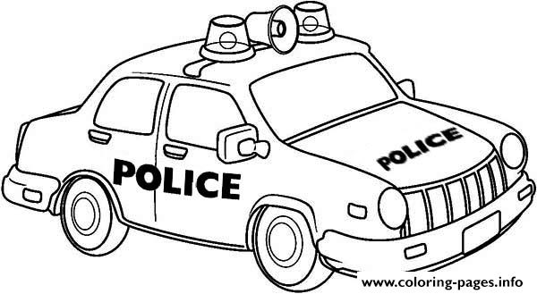 600x329 Police Vehicles Coloring Pages
