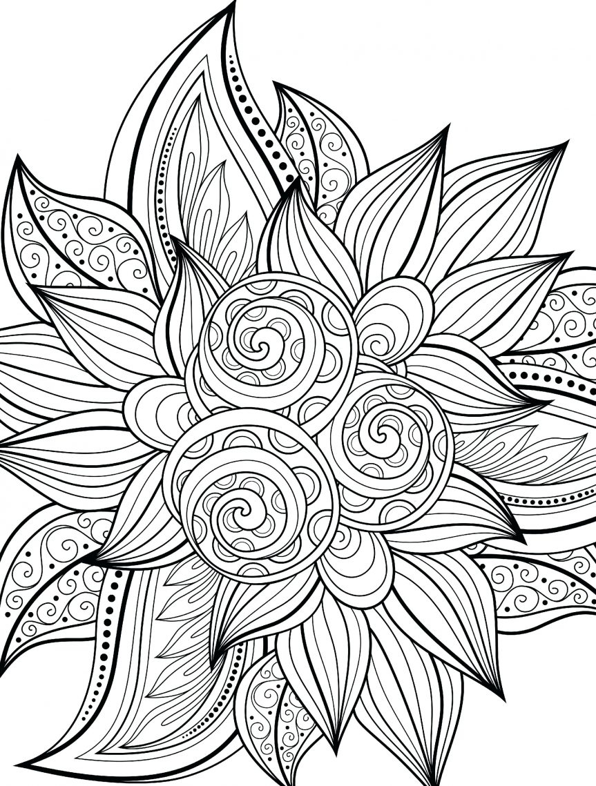 863x1139 Best Of Fall Flower Coloring Pages Collection Printable Coloring