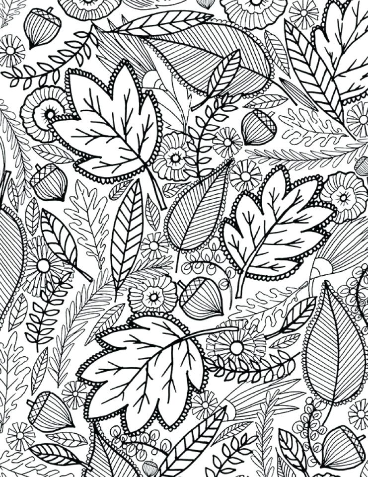 Autumn Adult Coloring Pages At Getdrawings Free Download