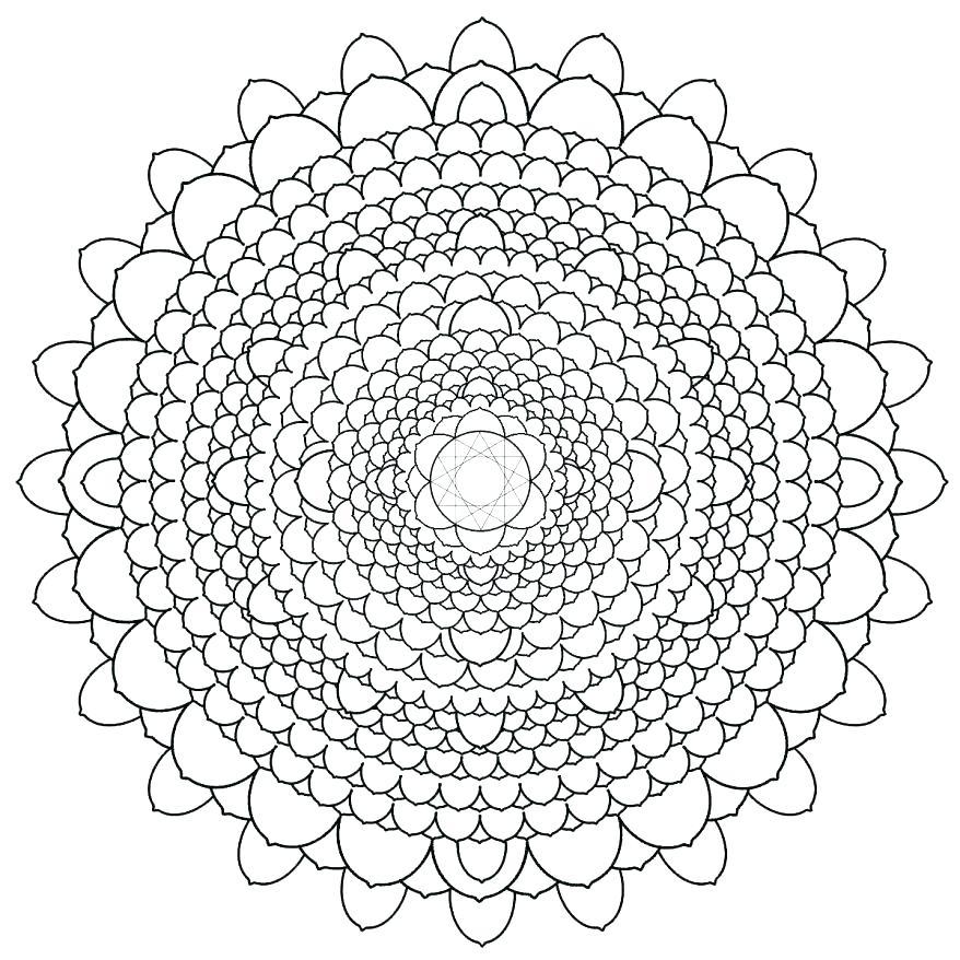 878x878 Fall Acorn Mandala Adult Coloring Page Fall Acorn Mandala Adult