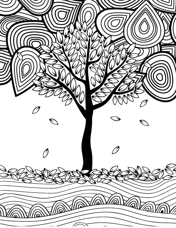 612x792 Fall Adult Coloring Page