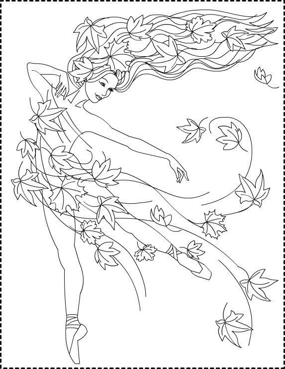 573x741 Nicole's Free Coloring Pages Autumn Princess Zana Toamnei