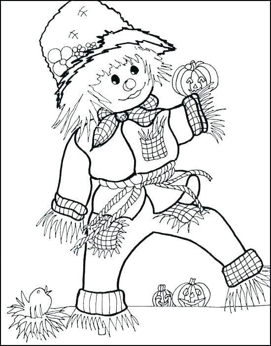 550x701 Fall Printable Coloring Pages