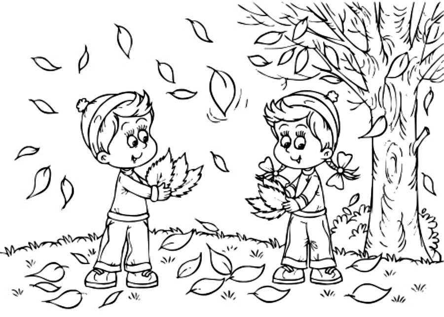 900x644 Fall Coloring Pages