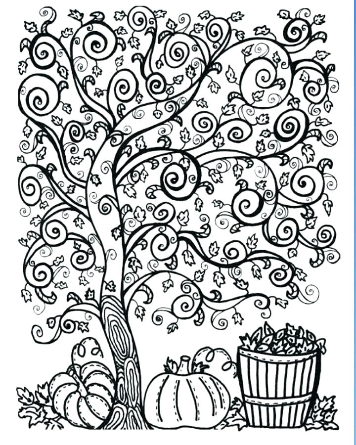 720x900 Coloring Pages Autumn