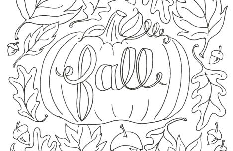 469x304 Autumn Coloring Pages Autumn Season With Fall Leaf Coloring Page