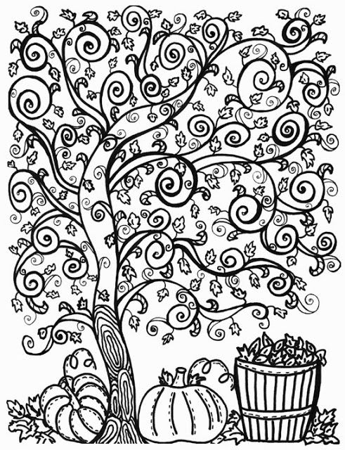 491x640 Autumn Coloring Pages For Adults Color Bros