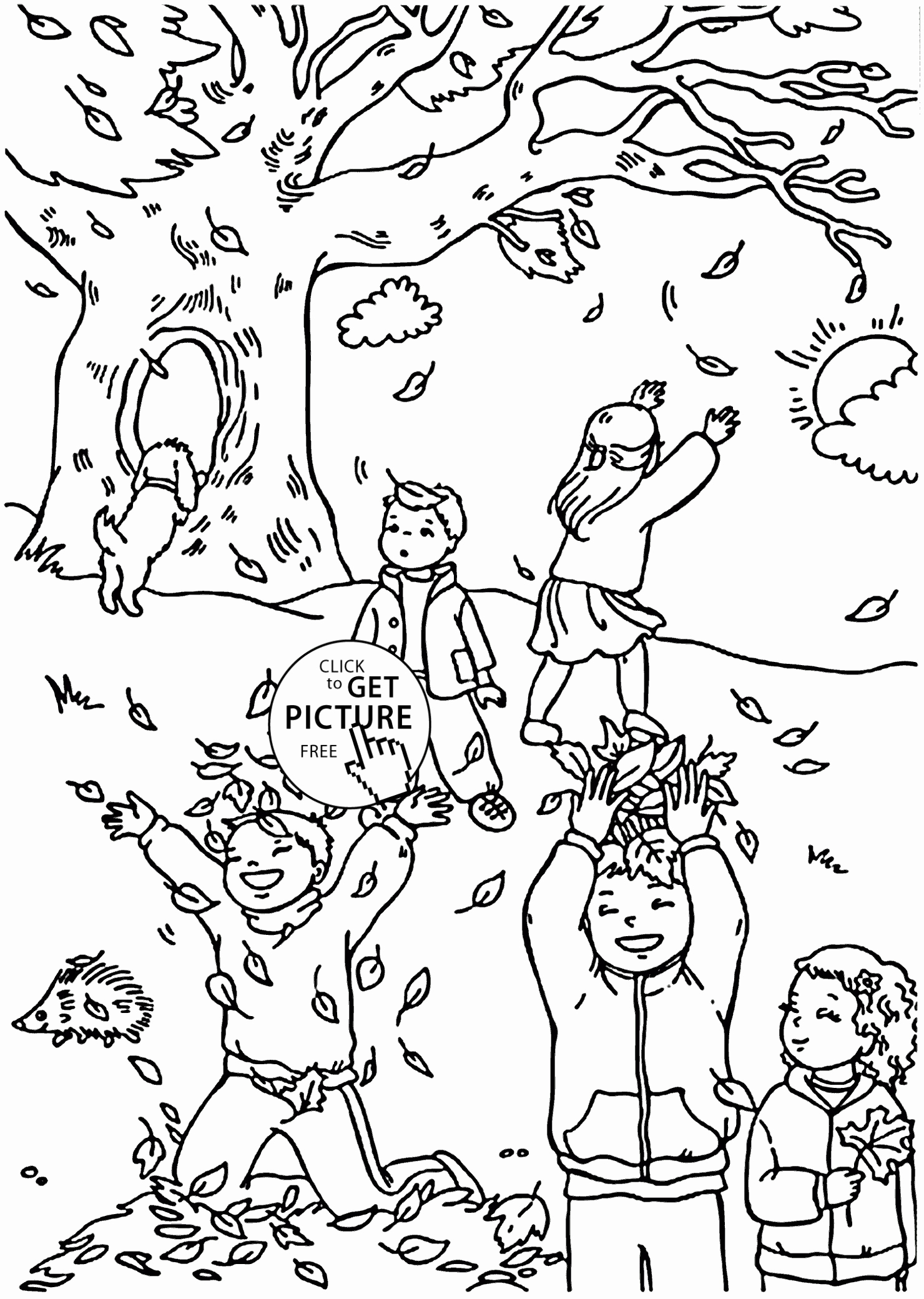 Autumn Coloring Pages For Kids
