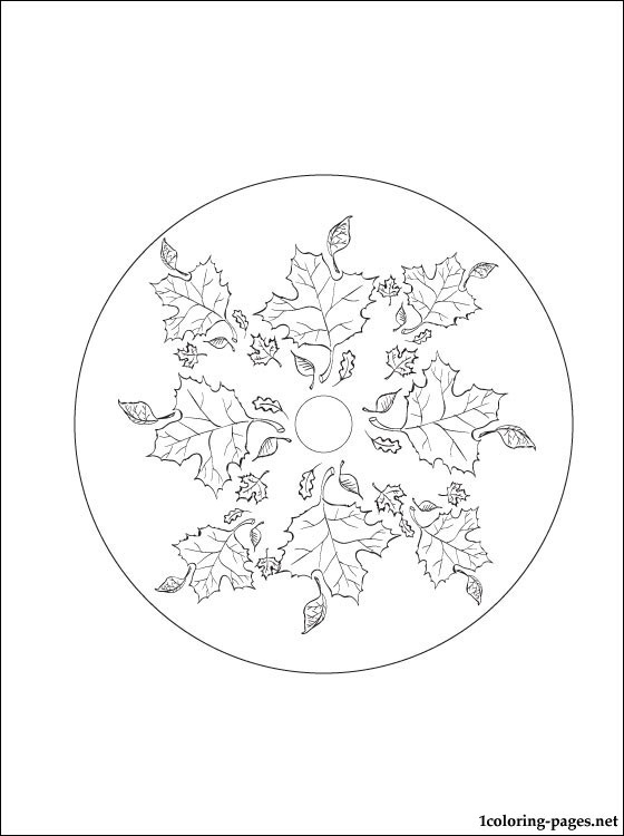560x750 Autumn Mandala Coloring Page Coloring Pages