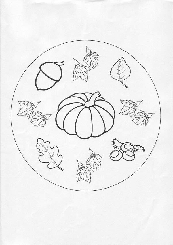601x850 Autumn Mandala Coloring Pages
