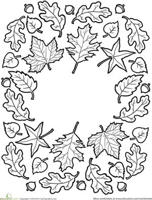 301x396 Fall Mandala Worksheet